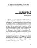 Hoạt động xuất bản với Thăng Long ngàn năm văn hiến