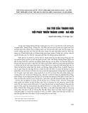 Vai trò của Thanh Hóa với phát triển Thăng Long - Hà Nội