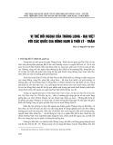 Vị thế đối ngoại của Thăng Long - Đại Việt với các quốc gia Đông Nam Á thời Lý - Trần