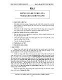 Bài giảng y học quân sự: Bài 5 - Đại Tá Bác sỹ Bùi Xuân Quang