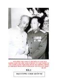 Bài giảng y học quân sự: Bài 1 - Đại Tá Bác sỹ Bùi Xuân Quang