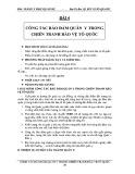 Bài giảng y học quân sự: Bài 4 - Đại Tá Bác sỹ Bùi Xuân Quang