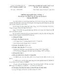 Thông báo số: 249/TB-SGDĐT