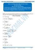 Bài tập tự luyện: Các phương pháp tính tích phân (phần 1)