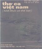 Hình thức và thể loại của Thơ ca Việt Nam: Phần 1