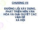 Bài giảng Đường lối cách mạng của Đảng cộng sản Việt Nam: Chương VII - Nguyễn Đinh Quốc Cường