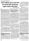 Ảnh hưởng của tự do hóa tài chính đến hệ thống Ngân hàng Việt Nam