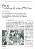 Bàn về tự do hóa tài chính ở Việt Nam
