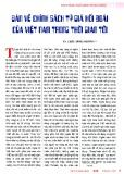 Bàn về vấn đề chính sách tỷ giá hối đoái của Việt nam trong thời gian tới