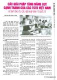 Các giải pháp tăng năng lực cạnh tranh của các tổ chức tín dụng Việt Nam để đáp ứng yêu cầu hội nhập kinh tế quốc tế
