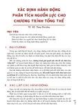 Bài giảng Xác định hành động phân tích nguồn lực cho chương trình tổng thể - TS. BS. DƯơng Đình Cung