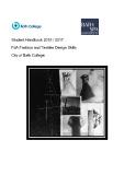 FdA fashion and textile design skills 2015-2017 course handbook