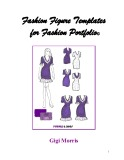 Ebook Fashion figure templates for fashion portfolio©