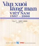 Ebook Văn xuôi lãng mạn Việt Nam 1887-2000 (Tập I - 1887-1932: Quyển 2): Phần 2