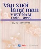 Ebook Văn xuôi lãng mạn Việt Nam 1887-2000 (Tập IV - 1976-2000): Phần 1