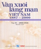 Ebook Văn xuôi lãng mạn Việt Nam 1887-2000 (Tập II - 1933-1945: Quyển 1): Phần 2
