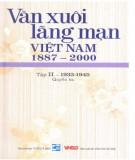 Khám phá Văn xuôi lãng mạn Việt Nam 1887-2000 (Tập II - 1933-1945: Quyển 3): Phần 1