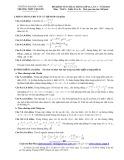 Đề khảo sát chất lượng lớp 12 lần 1 năm 2014 môn Toán (khối B, D) - Trường Đại Học Vinh