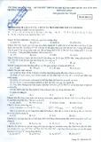Đề thi thử chuẩn bị cho kì thi THPT Quốc gia năm 2015 môn Hóa học (Mã đề thi 213) – Trường ĐH Sư phạm Hà Nội