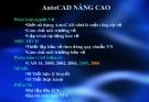 Bài giảng AutoCAD nâng cao - Chương 1: Thiết lập môi trường bản vẽ