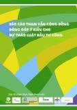 Báo cáo tham vấn cộng đồng đóng góp ý kiến cho Dự thảo Luật Đầu tư công