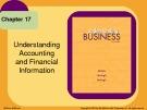 Lecture Understanding business (10/e): Chapter 17 - William G. Nickels, James M. McHugh, Susan M. McHugh