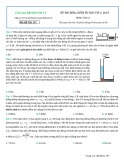 Đề thi rèn luyện tư duy vip 2, 2015 môn Vật lý (Mã đề thi 197)