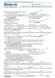 Tuyển chọn lý thuyết ôn thi THPT Quốc gia môn Hóa học - Đề số 1