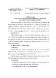 Thông báo số: 17/TB-HVCB