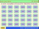 Bài giảng Các hàm cơ bản trong Excel - Nguyễn Xuân Nghĩa