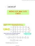 Bài giảng Chương 4: Động lực học lưu chất - TS. Nguyễn Thị Bảy