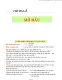 Bài giảng Chương 1: Mở đầu - TS. Nguyễn Thị Bảy