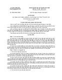 Quyết định số: 28/2015/QĐ-UBND Thành phố Cần Thơ