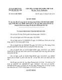 Quyết định số: 08/2016/QĐ-UBND Thành phố Hà Nội