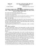 Nghị định số: 48/2016/NĐ-CP