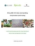 Sổ tay ABC về tổ chức các hoạt động và dự án bảo vệ môi trường