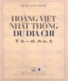 Khám phá Hoàng Việt nhất thống dư địa chí: Phần 1