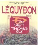 Ebook Lê Quý Đôn - Đại Việt thông sử: Phần 1