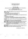 Đề thi Các nguyên lý cơ bản của chủ nghĩa Mác - LêNin (phần 2) - Đề thi số 2 (chẵn)