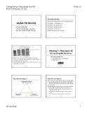 Bài giảng Quản trị rủi ro: Chương 1 - Hồ Văn Dũng