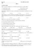 Bài kiểm tra 45 phút chương các định luật bảo toàn