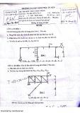 Đề thi kết thúc học phần môn Cơ học kết cấu 1 - Trường ĐH Kiến trúc TP. HCM