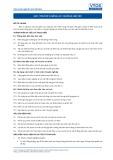 Tiêu chuẩn nghề Du lịch Việt Nam - Đơn vị năng lực GES1: Chuẩn bị làm việc