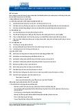 Tiêu chuẩn nghề Du lịch Việt Nam - Đơn vị năng lực FBS2.3: Chuẩn bị, pha chế và phục vụ cốc-tai