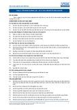 Tiêu chuẩn nghề Du lịch Việt Nam - Đơn vị năng lực TOS3.5: Xử lý các vấn đề về vận chuyển