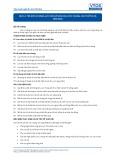 Tiêu chuẩn nghề Du lịch Việt Nam - Đơn vị năng lực HKS1.3: Dọn vệ sinh khu vực chung, các thiết bị và tiện nghi