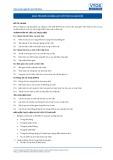 Tiêu chuẩn nghề Du lịch Việt Nam - Đơn vị năng lực GES3: Kết thúc ca làm việc