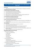Tiêu chuẩn nghề Du lịch Việt Nam - Đơn vị năng lực TOS4.7: Phân tích thông tin và ý kiến phản hồi của khách hàng