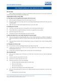 Tiêu chuẩn nghề Du lịch Việt Nam - Đơn vị năng lực COS6: Thực hiện sơ cứu cơ bản