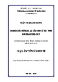 Luận án Tiến sĩ: Nghiên cứu thống kê cơ cấu kinh tế Việt Nam giai đoạn 1986-2012